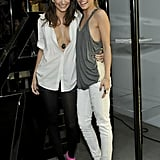 AnnaLynne McCord and a friend posed in their funky, fearless outfits.