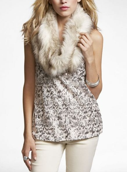 This Express Faux Fur Looped Scarf ($88) offers a seriously luxe look for under $100.