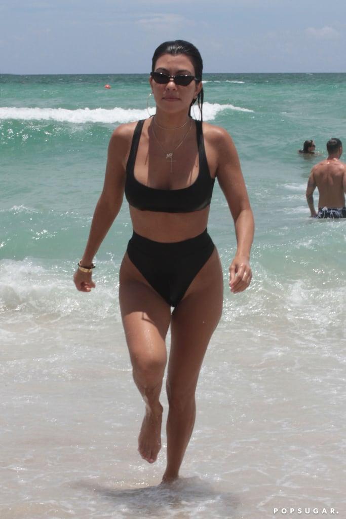 Kourtney Kardashian And Larsa Pippen In Miami June 2017