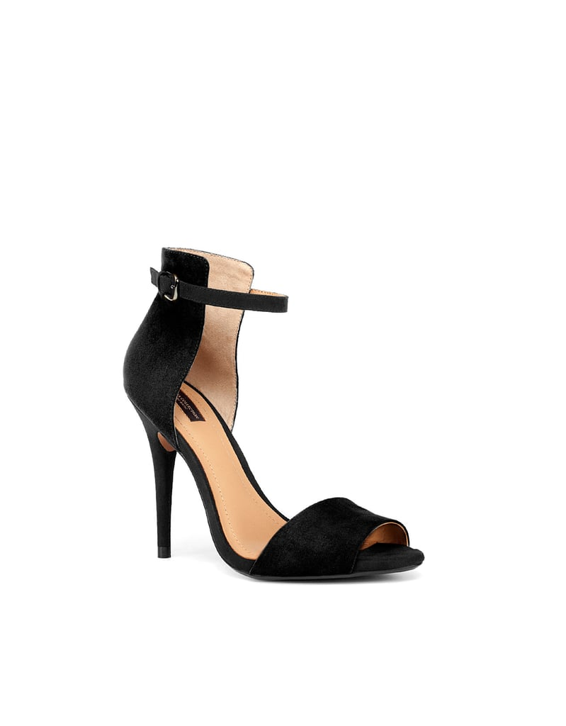 """I've been on the hunt for sleek black sandals to temper my sporty Spring-inspired looks for a while now and I think I've found the one. This one is not too pricey and is actually quite comfortable to walk in. "" — Chi Chau, associate editor Zara black sandal ($50)"