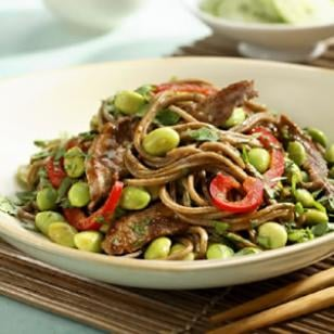 Easy Hoisin Beef and Edamame Noodle Recipe