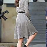 Kate completed her look with black Stuart Weitzman Power pumps.