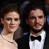 Kit Harington and Rose Leslie Olivier Awards Red Carpet 2016