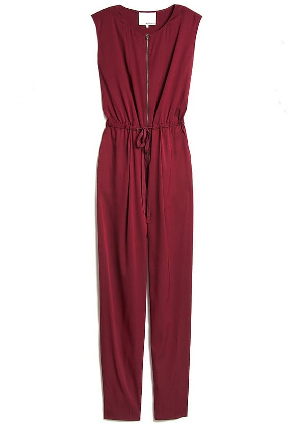 Stray from basic black with 3.1 Phillip Lim's Silk Drawstring Jumpsuit ($625).