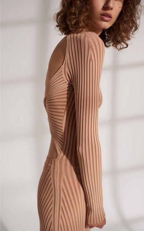Dion lee Stripe Rib Twist Dress