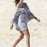 Cindy Crawford took a post-New Year's Day stroll in Cabo.