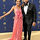 Yara Shahidi and Anthony Anderson at the 2018 Emmy Awards