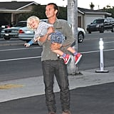 Gavin Rossdale and Zuma Rossdale kidded around as they made their way into The Malibu Inn.
