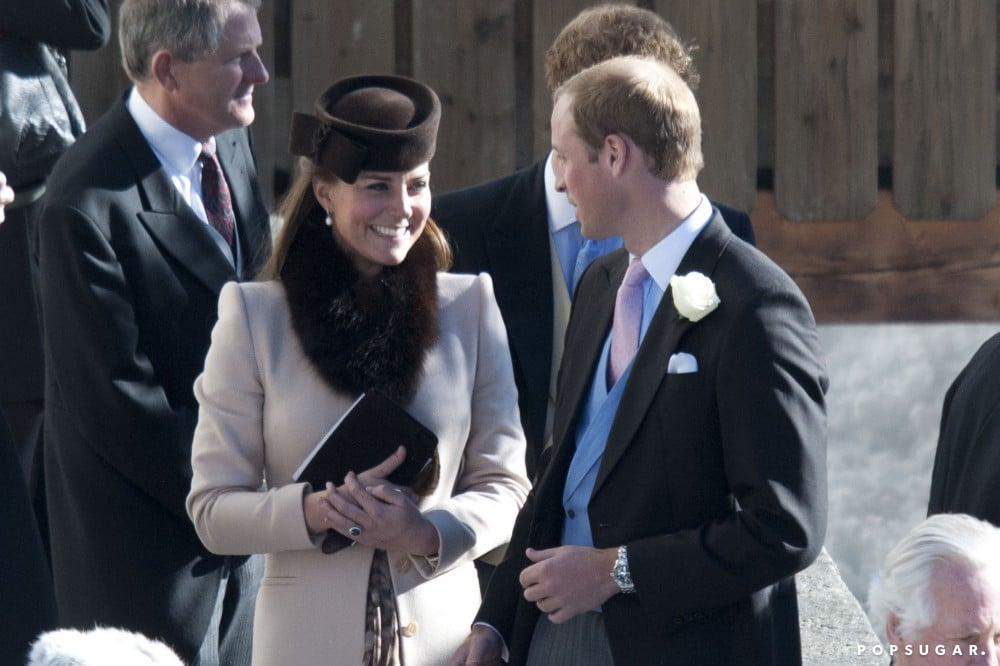 Prince William and Kate Middleton visited the Swiss Alps to attend a friend's wedding in March 2013.