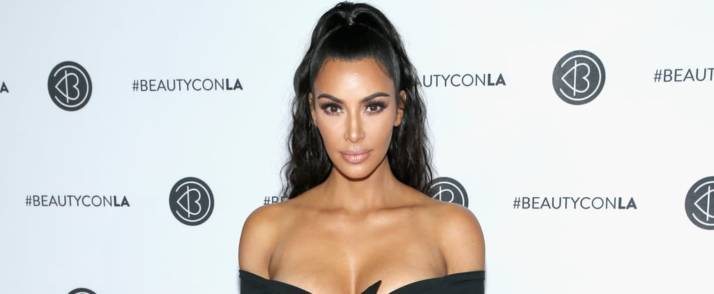 Kim Kardashian's Black Dress Beautycon 2018