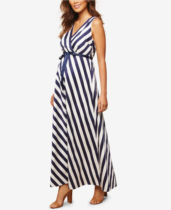 220a1ab76df16 Jessica Simpson Maternity Striped Maxi Dress | Maternity Dresses ...