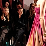 Mary-Kate Olsen and Ashley Olsen at QVC's runway show.  worldredeye.com