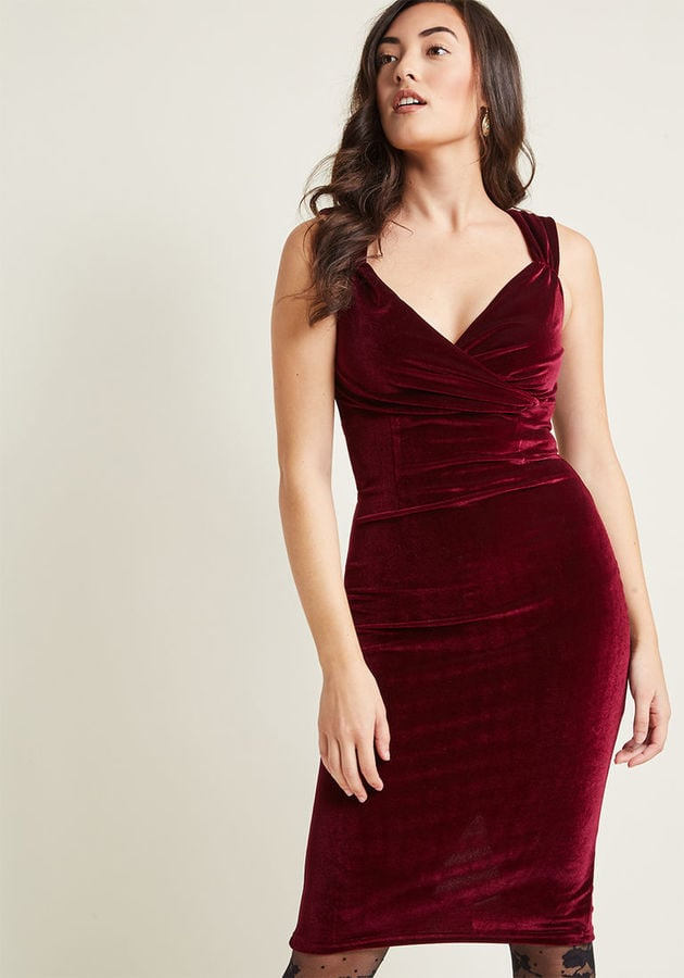ModCloth Lady Love Song Velvet Dress