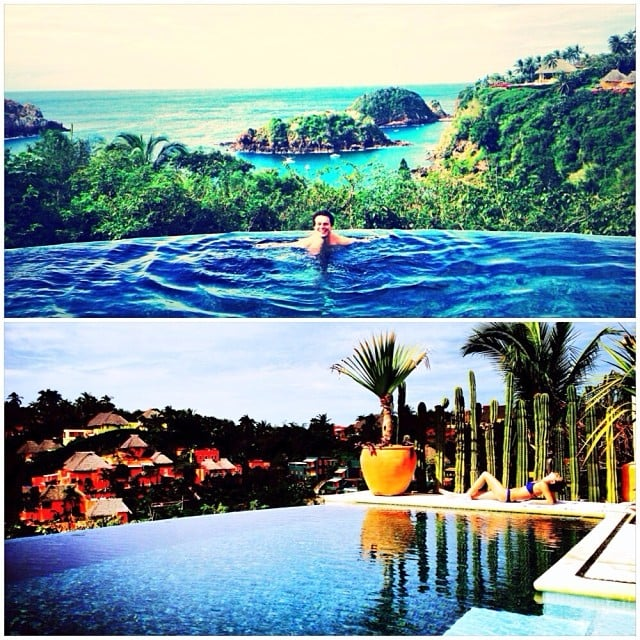 Lea and Jonathan had an expansive view from their pool deck.  Source: Instagram user msleamichele