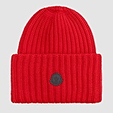 Moncler Berretto Oversized Beanie in Red
