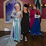 Pregnant Gwen Stefani posed with Frozen princesses when she visited the park in November 2013.