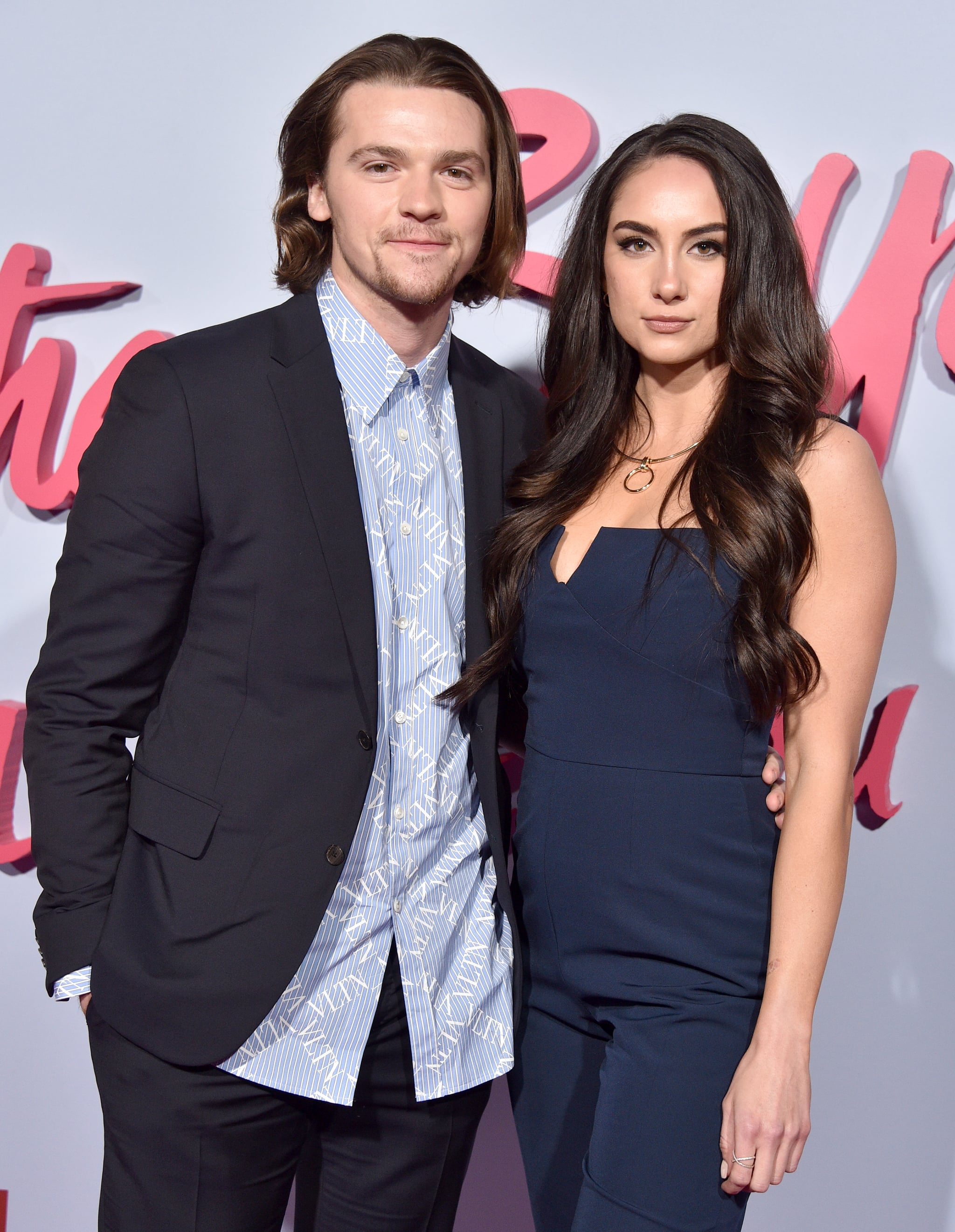 HOLLYWOOD, CALIFORNIA - FEBRUARY 03:  Joel Courtney and guest attend the Premiere Of Netflix's