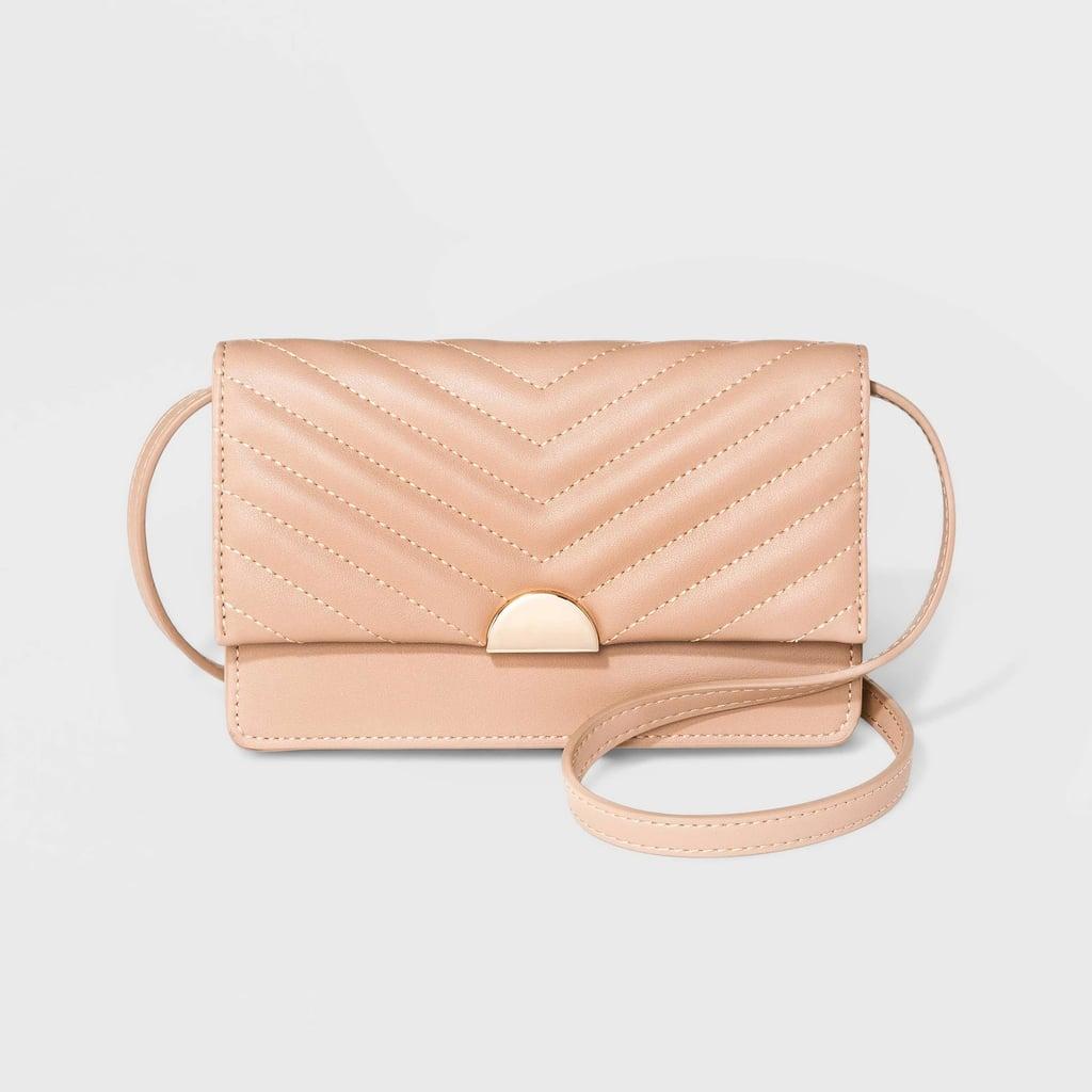 Blush Wallet on a String Crossbody Bag