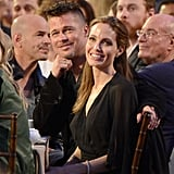 Brad Pitt and Angelina Jolie looked happy in love in the Independent Spirit Awards audience.
