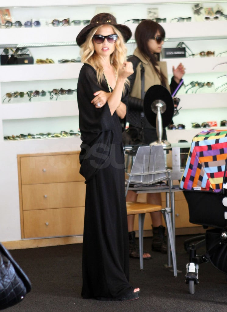 Rachel Zoe had Sklyer Berman along in his stroller.