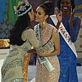 Outgoing Miss World Yu Wenxia congratulated Megan on her win.