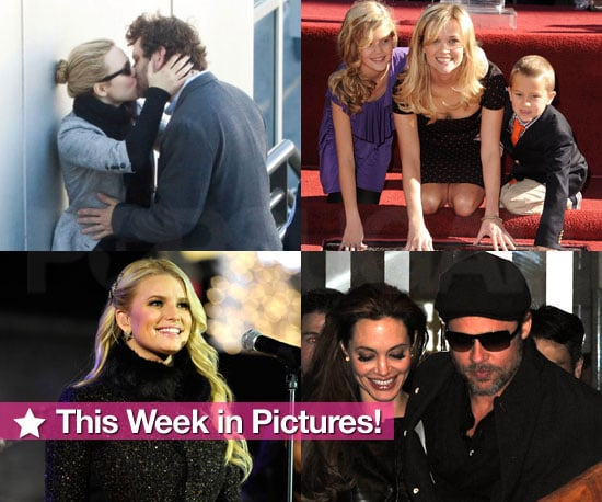 Reese Gets Her Star, Angelina Takes the Kids on an Aquarium Adventure,  Jessica Lights Up, and More in This Week in Pictures!