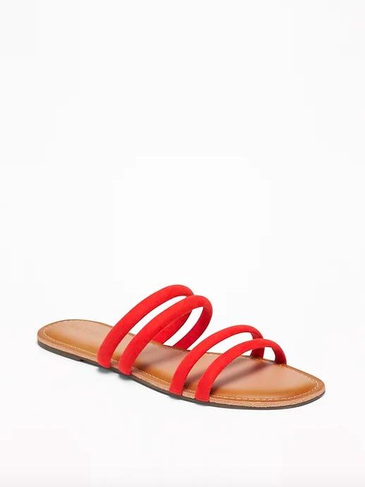 Tubular Faux-Suede Sandals