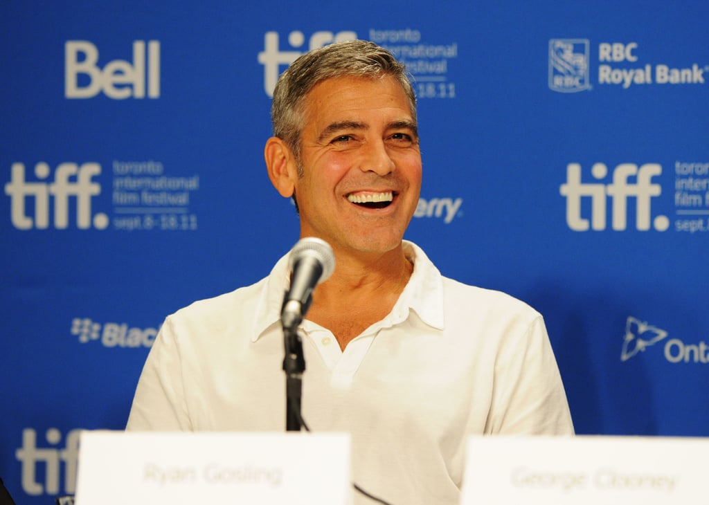 George Clooney at The Ides of March press conference in Toronto.