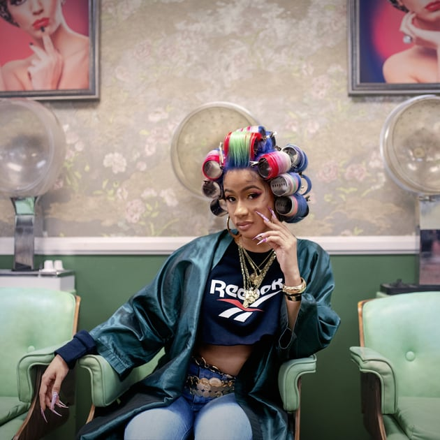 Cardi B Heads to the Nail Salon In New Surreal Reebok Ad