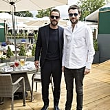 Jamie Redknapp and Jack Whitehall at Day 1 of Wimbledon