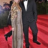 After posting a Vine video giving fans a sneak peek of her Emanuel Ungaro dress, Coco Rocha showed off the real thing with designer-date Fausto Puglisi in tow.