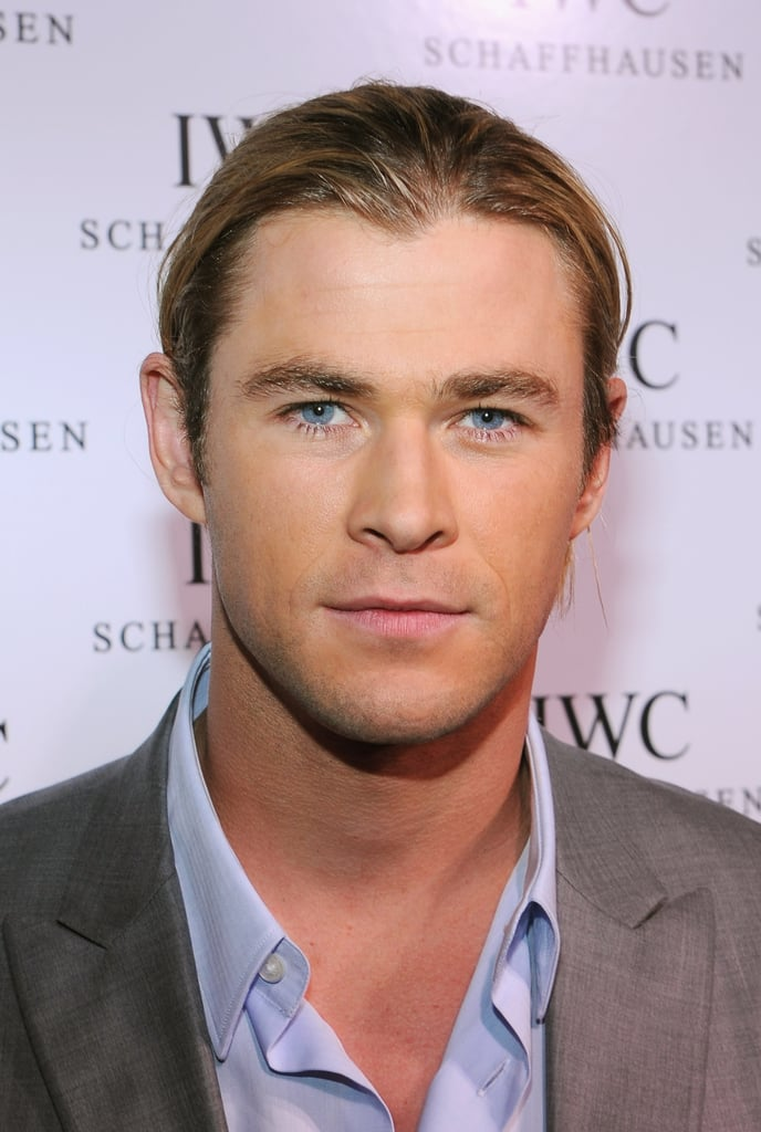Chris Hemsworth wore a ponytail.