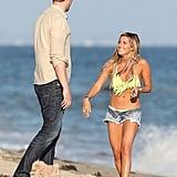Ashley Tisdale and Scott Speer celebrated her birthday on the beach in Malibu.