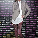 Coco Rocha stepped out for a Hudson party in the brand's playfully colored skinnies.