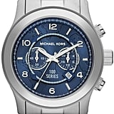 Michael Kors Watch Hunger Stop Oversized Runway Silver Watch ($295)