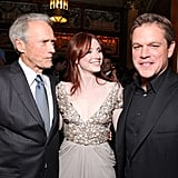 Clint Eastwood, Bryce Dallas Howard, and Matt Damon proudly debuted Hereafter together at the 2010 Toronto International Film Festival in September.