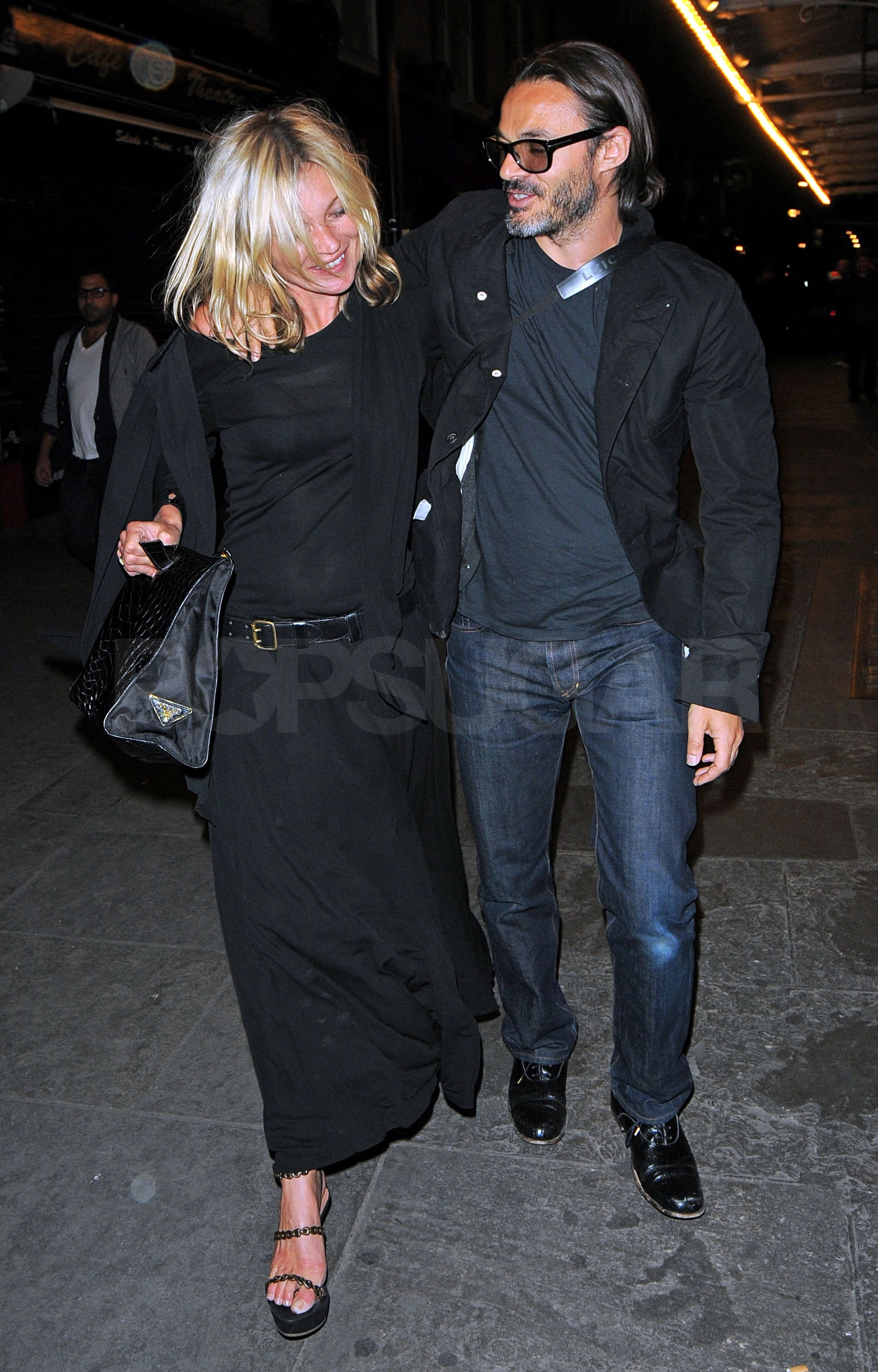 e2061ccb4212 Photos of Kate Moss and Mario Sorrenti Leaving London's J Sheekey ...