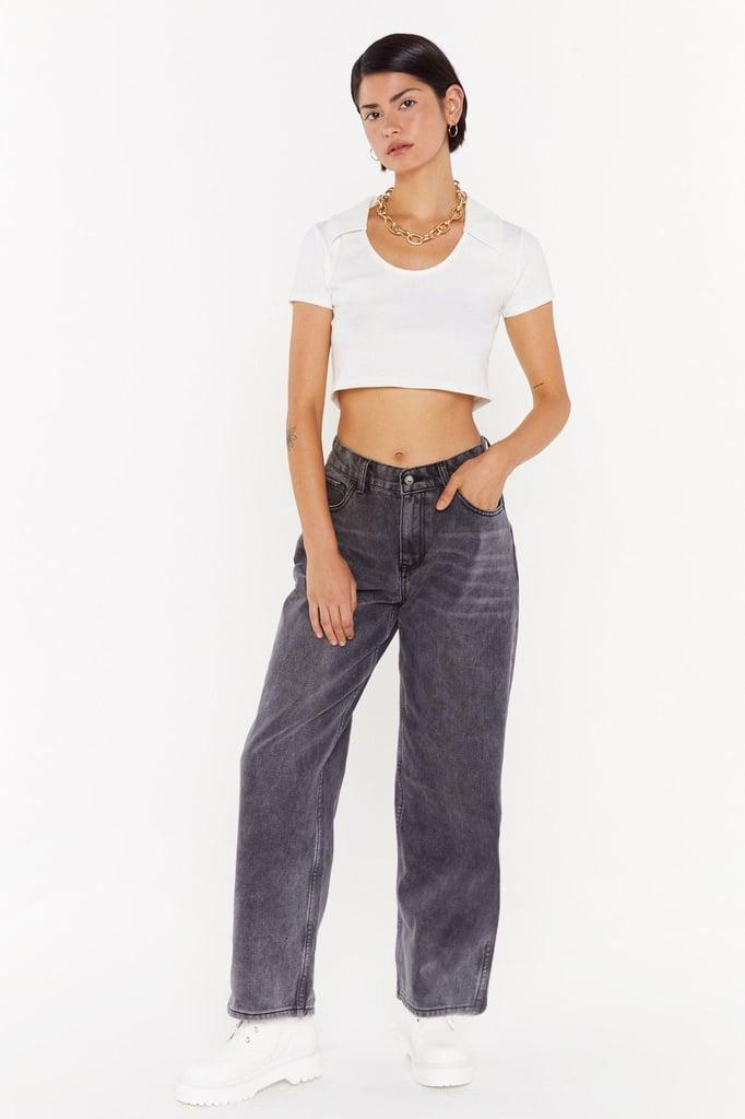 Nasty Gal Dru Wide-Leg Jeans