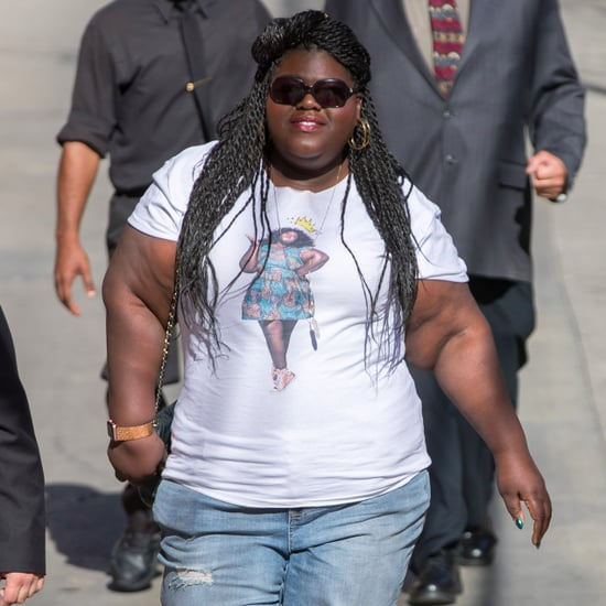 Gabourey Sidibe Wearing a T-Shirt With Her Face on It 2017