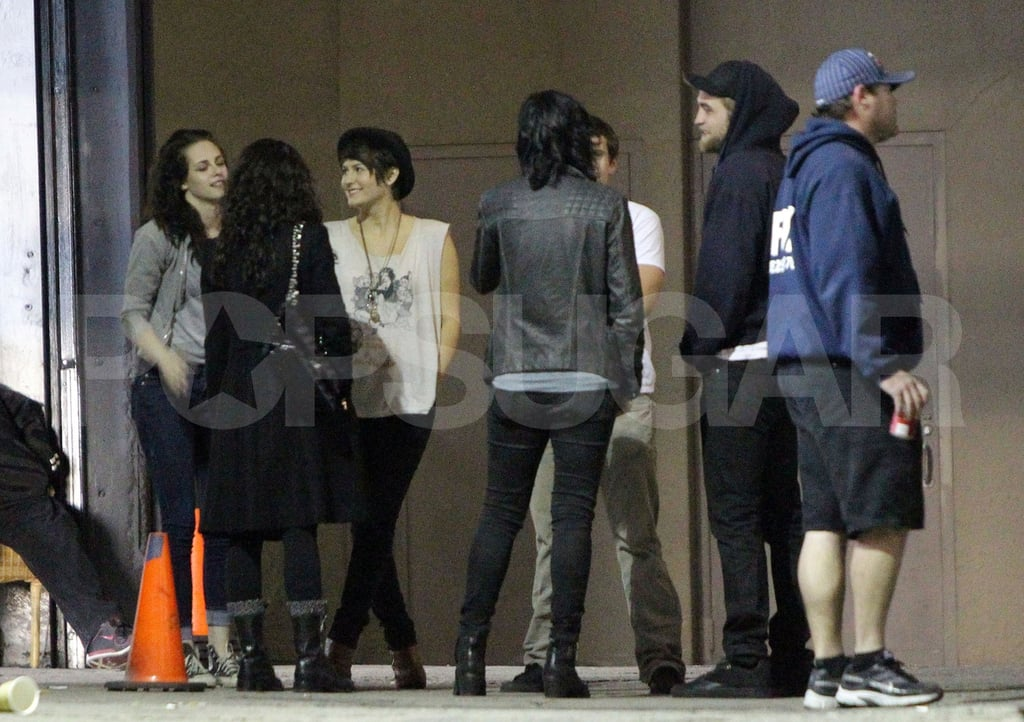 Kristen Stewart and Robert Pattinson hung out with friends in LA.