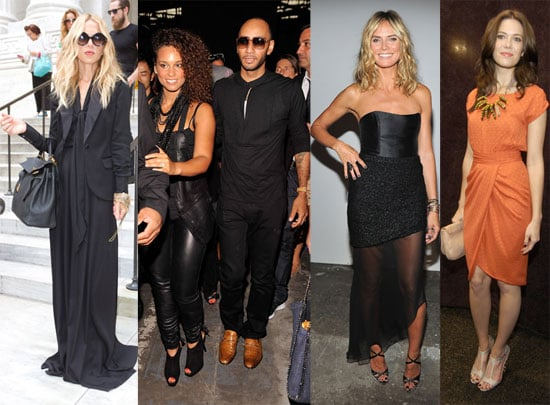 Celebrities at New York Fashion Week