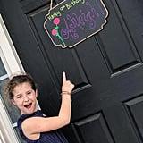 Girl's Neighborhood Birthday Party While Social Distancing