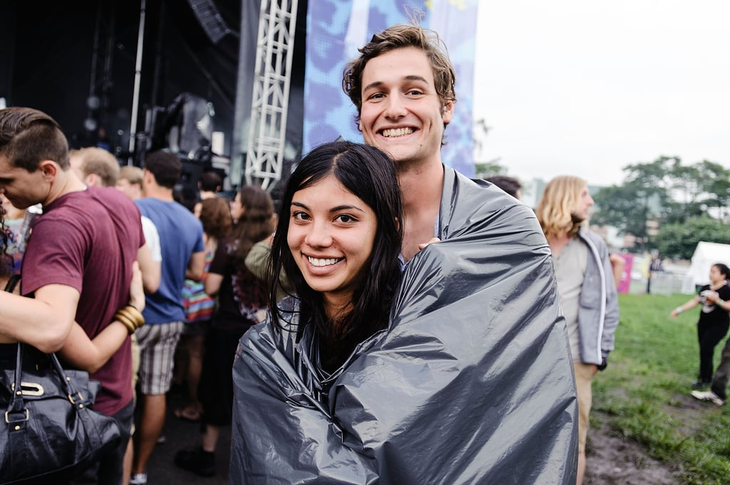 A pair of concertgoers cozied up in a blanket at the Catalpa Festival at Randall's Island in New York City.