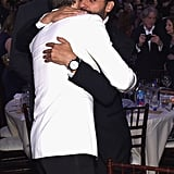 Ryan Gosling and Oscar Isaac shared a cute bro-hug.