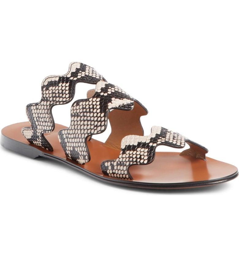 Chloé Lauren Scalloped Slide Sandals