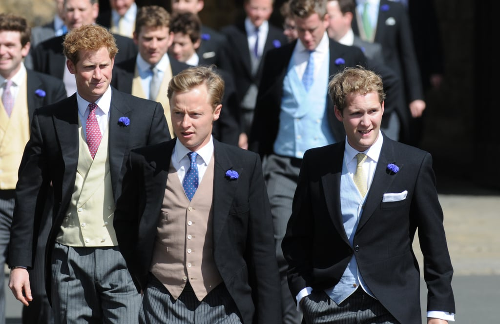 Prince Harry attended the wedding of his pal Thomas van Straubenzee.