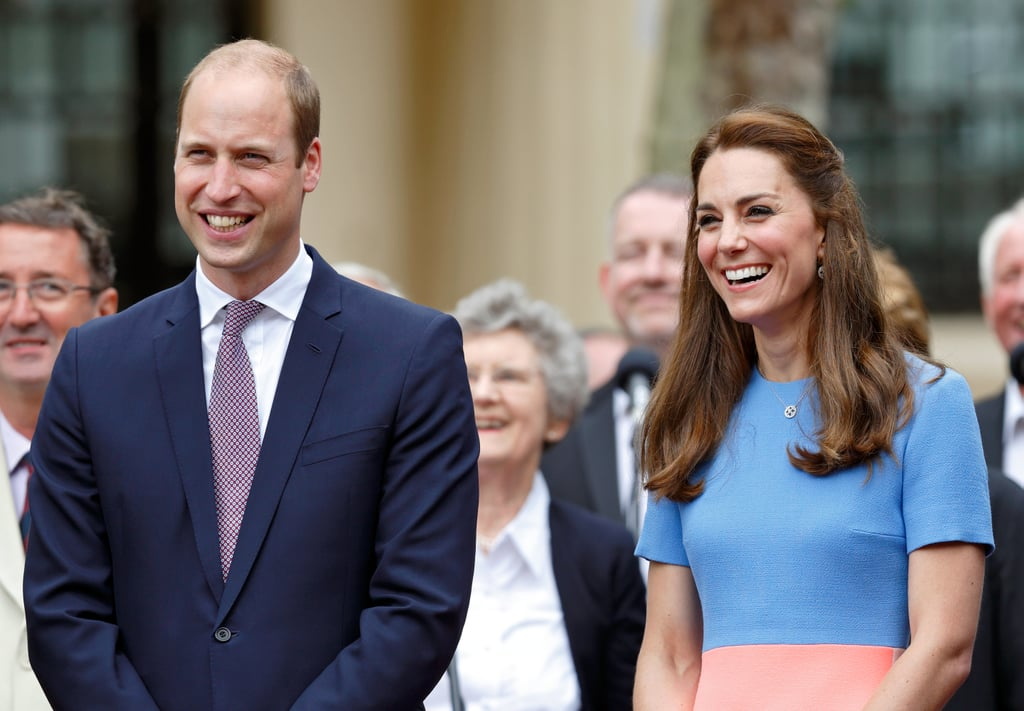 The two couldn't contain their joy as they met with guests at the Patron's Lunch in London in June.