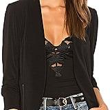 BCBGeneration Zipper Front Knit Tuxedo Blazer