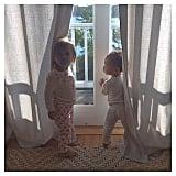 Kim Kardashian posted this cute pajama photo to wish North's cousin Penelope a happy birthday.