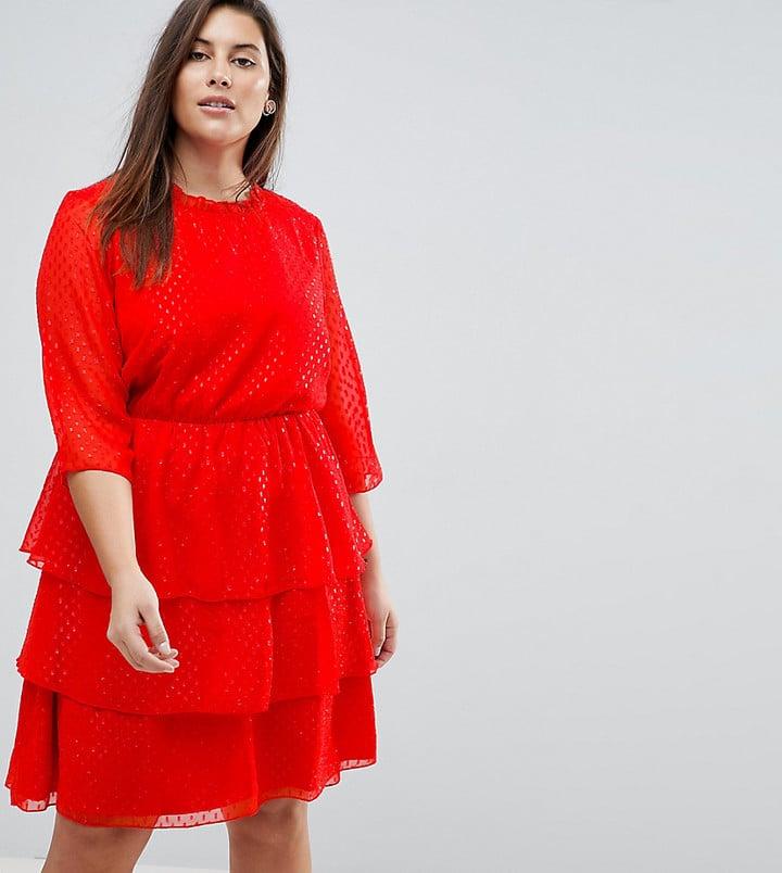 Junarose Sparkle Ruffle Dress Skater Dress  f7c936b4f